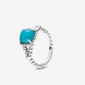 Pandora Vibrant Spirit Ring Scuba Blue Crystal